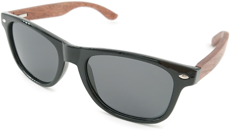 Image of   Alpha, herre solbrille med træramme