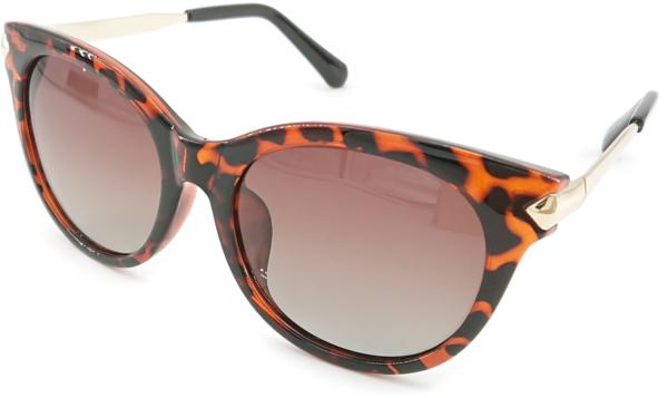 På billedet ser du variationen Cateye, dame solbriller med etui fra brandet Veithdia i en størrelse H: 4,8 cm. B: 5,5 cm. i farven Leopard