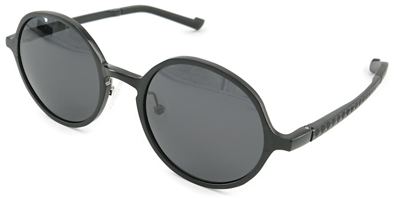 På billedet ser du variationen Slash, runde solbriller til herre fra brandet Barcur i en størrelse H: 5 cm. B: 5,3 cm. i farven Sort