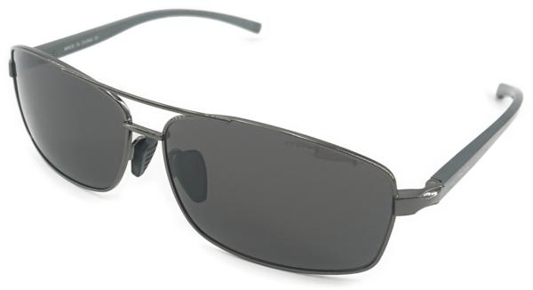 På billedet ser du variationen Union, herre solbriller med etui fra brandet Veithdia i en størrelse H: 4,2 cm. B: 6,3 cm. i farven Grå